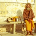 sadhu on the bank of the ganges