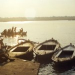 ganges river silhouettes