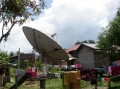 big satellite dishes of lao homes