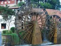 famous water wheels located in the north of this maze
