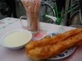 breakfast of soymilk and fried bread