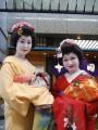 beautiful ladies training to be geisha