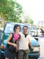 agus and me in front of his transport