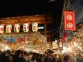 lanterns and a big line into the shrine