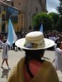 beautiful bolivian hats, parade